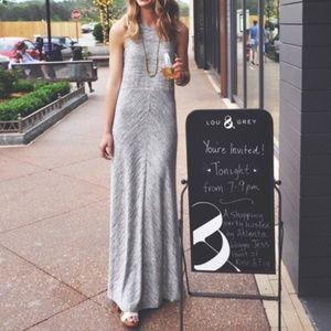 Lou & Grey Spacedye Racerback Gray Maxi Dress